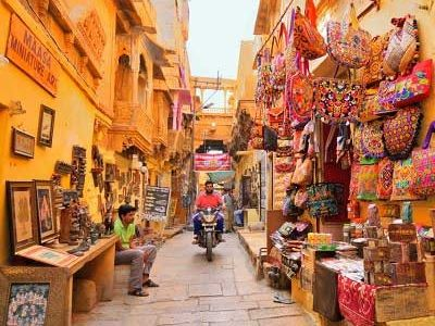 Fort street markets Jaisalmer