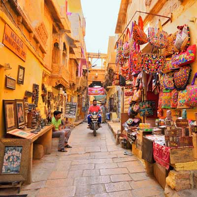 Jaisalmer markets view