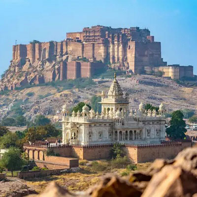 Meharangarh Fort view from Jaswat Thada