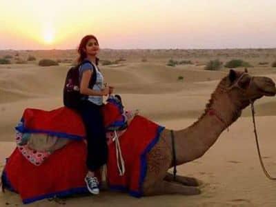 camel ride at jaisalmer